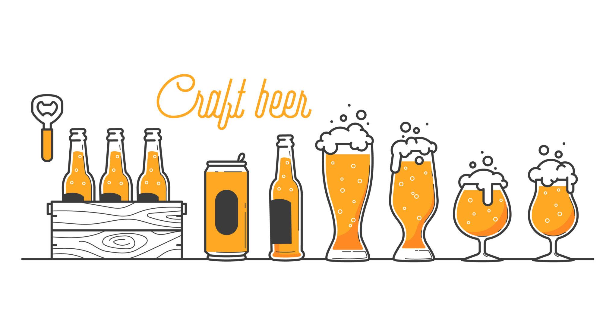 クラフトビールの画像